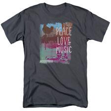Woodstock Peace Love Music Licensed Adult T Shirt