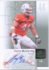 colin mccarthy rookie rc auto autograph miami hurricanes spa college 2011