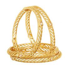4Pc Bangle Bracelet Set Wedding Jewelry New Indian Ethnic Bollywood Gold Plated