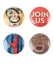 The Evil Dead badges, buttons,  Sam Raimi, Bruce Campbell classic horror film