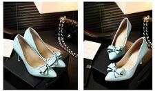 Décollte Scarpe decolte sandali donna tacco spillo 9 cm stiletto azzurro 9175