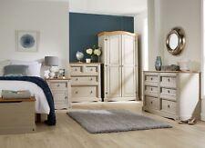 Grey Corona Pine Bedroom Furniture Wardrobe Chest of Drawers Ottoman Bedside