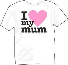 T-Shirt girocollo manica corta bambina B0008 Kids I love mum Amo la mia mamma