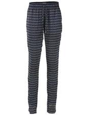 RICK CARDONA donna pantaloni con stampa in tessuto chino elasticizzato MARINAIO