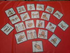 21 SIGN LANGUAGE PEC CARDS - COMMUNICATION - SPECIAL NEEDS - SPEECH AND LANGUAGE