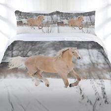 Horse Duvet | Doona Quilt Cover Set | Winter Gallop | Just Home Bedding
