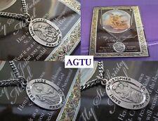 U PICK SAINT PEWTER Saints Religious Patron Medal Pendant & Necklace Gift AGTU