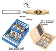 Kirschen Stechbeitel Auswahl 4-40mm oder Satz mit 2 Stahlzwingen Weißbuchenheft