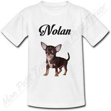 T-shirt Adulte Chihuahua Chien avec Prénom Personnalisé - du S au 2XL