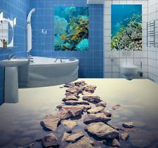 3D Spiaggia pietra Pavimento Foto Wallpaper Murales Muro Stampa Decalcomania