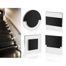 LED Wandeinbaustrahler Einbauleuchte Treppenlicht Stufenlicht Schwarz 12V / 230V
