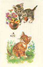 Oblaten Abziehbilder Katzen