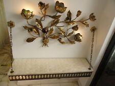 UNIQUE FOYER  CANTILEVER TABLE PLATFORM WITH FANCY SHELL DESIGN TOP & LIGHT