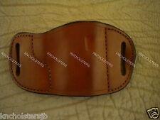 1911... Belt Slide Cross Draw Leather Holster Right Hand Tan