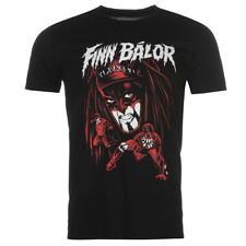 Para Hombre Oficial Wwe Superstar Negro Rojo Cuello Redondo Manga Corta Camiseta Finn Balor