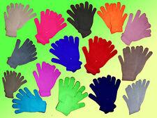 Handschuhe Fingerhandschuhe Damenhandschuhe unifarben NEU  one SIZE ca .M