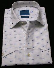 Men's shirts 100% cotton Slim Fitart.Piero 941 white Long Sleeve,Made In Italy