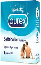 Preservativi DUREX SETTEBELLO CLASSICI Profilattici - confezioni sigillate 3 PZ