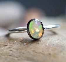 Neues Design Silberring 52 59 60 Edelopal Schlicht Modern Elegant Opal Feueropal