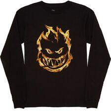 Spitfire 451 LS TEE Black Flame Fire Logo Screenprint Long Sleeve Men's T-Shirt