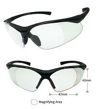 Semi Rimless Big Bifocal Safety Reading Glasses Clear Lens ANSI Z87.1