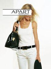 APART Feinstrick Bandeau Stricktop Top Shirt NEU braun