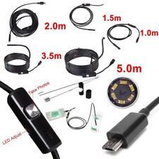Waterproof UNZ Inspection Camera Boroscope Snake Scope Endoscope 6 LED 5.5mm XX