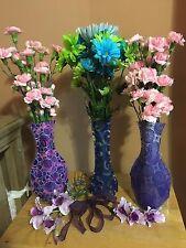 Unique, Stylish, Collapsible Flower Vase. Decorative Designs. Plastic