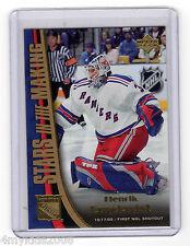 05/06 Upper Deck Stars In Making HENRIK LUNDQVIST New York Rangers #SM6 BV=$25