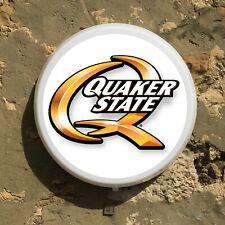 QUAKER STATE MOTOR OIL LED WALL SIGN ILLUMINATED LIGHT BOX GARAGE NASCAR AUTO