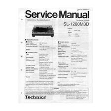 Technics Service Manual For SL1200M3D Turntable