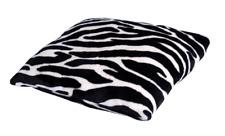 Deko-Kissen Kuschelkissen, Zebra, Giraffe oder Leopard, 40 x 40 cm, Mikrofaser