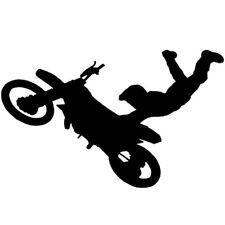 Sticker Décor Moto CROSS acrobatie silhouette, 15x24 cm à 30x48 cm (MOTO012)