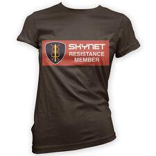 Skynet Resistance Member Womens T-Shirt x14 Colours- Movie Robot Funny Cyberdyne