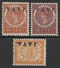 Netherland Indies 1908 Nvph 67F+77f-78f Mlh Vf