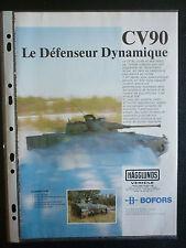9/1992 PUB HAGGLUNDS VEHICLE BOFORS GUN SYSTEM CV 90 SWEDISH ARMY  MILITARY AD