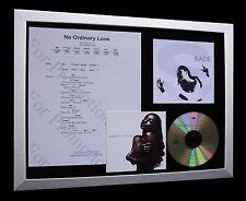 SADE No Ordinary Love LTD NOD QUALITY CD FRAMED DISPLAY+EXPRESS GLOBAL SHIP!!