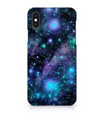 Cosmic Verde Vía Láctea Azul Cielo Estrellas Espacio brillantes Cubierta Estuche teléfono Galaxy