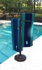 Outdoor portable towel holder rack - pool patio spa yard - Metallic Bronze color