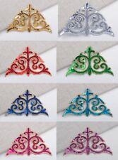 Sequin embroidery patch lace applique motif dress Irish dance costume #35 8 COLS
