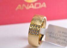 1 Damenring - Verlobungsring - Gold 585 mit Diamanten - Breite: 7mm -  Eismatt