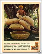 1961 Sanka Cofee beverage collectible print ad
