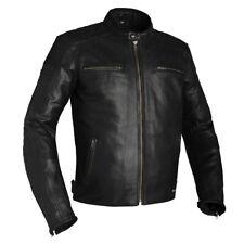 Richa Daytona Retro Classic Casual Motorcycle Motorbike Leather Jacket - Black