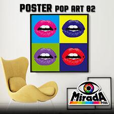 POSTER POP ART Andy Warhol BOCCA CARTA FOTOGRAFICA QUALITA' 35x35 50x50 70x70