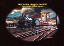 TEE SHIRT  Manches Longues . TRAIN . LOCOMOTIVE ROCK ISLAND PACIFIC . 1932 .