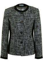 Busy Black & White Boucle Wool Blend Ladies Jacket