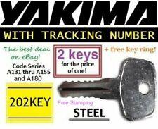 2 YAKIMA Replacement Key SKS Lock Ski Roof Rack Bicycle Cargo Carrier Surf Kayak