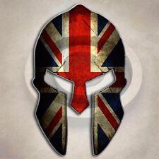 Union Jack Spartan Helmet Sticker British Great Britain UK Decal
