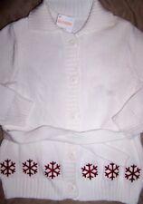 Sweater Cardigan White Gymboree Cotton School Winter Girl size XS 3/4  New