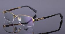 Luxury Pure Titanium Hlaf Rimless Eyeglass Frame Glasses men women Rx able